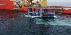 En avril 2019, Hydroquest a immergé un prototype d'hydrolienne de 1.400 tonnes sur le site d'essai de Paimpol Brehat. Deconnecté du réseau en mars dernier, ses résultats ont été concluants.