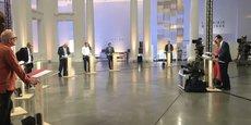 Les sept têtes de liste ont débattu pour la première fois de leurs programmes jeudi à Lille.
