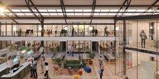 L'atrium du Moho : nouveau tiers lieu caennais