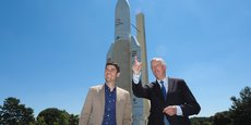 Pour matérialiser le soutien de Michel Barnier à Aurélien Pradié dans ces élections régionales, le duo a visité la Cité de l'Espace à Toulouse, jeudi 10 juin.
