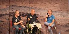 Philippe Croizon était de passage à Toulouse à la Cité de l'espace ce vendredi 18 juin pour peaufiner son rêve d'aller dans l'espace.