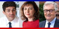 Aurélien Pradié (LR), Carole Delga (PS) et Jean-Paul Garraud (RN) vont s'affronter dans une triangulaire pour les élections régionales en Occitanie.