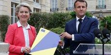 Le président Emmanuel Macron et la présidente de la Commission européenne Ursula von der Leyen à l'Elysée le 23 juin, après l'approbation du plan de relance français.