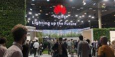 Le stand de Huawei au Mobile World Congress, ce lundi.