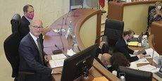 Jean-Luc Gleyze nouveau président avant son allocution