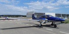 L'avion Diamond Aircraft, d'Instant'Air, compagnie basée à Montpellier, propose un service à la carte pour des patrons de TPE et PME.