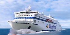 L'un des deux navires hybrides qui seront livrés à la compagnie de Roscoff en 2024.