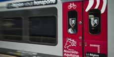 Un train express régional propriété de la Nouvelle-Aquitaine