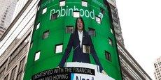 Le titre Robinhood a quasiment doublé en deux séances, porté par l'investissement massif d'une des gourous de Wall Street et la mobilisation des néo-tradeurs.
