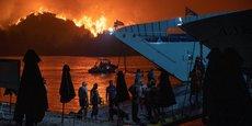 Incendies en Grèce au mois d'août.