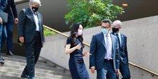 Meng Wanzhou, à l'issue d'une audience devant un tribunal canadien, début août 2021.