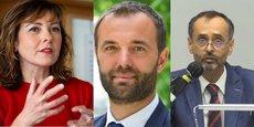 Carole Delga (présidente de la Région Occitanie), Michaël Delafosse (maire de Montpellier et président de la Métropole de Montpellier) et Robert Ménard (maire de Béziers et président de Béziers Méditerranée Agglomération).