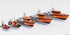 La future flotte de la SNSM fournie par le chantier naval girondin Couach.