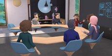 Récemment, Facebook a lancé Horizon Workrooms à destination du monde des entreprises, avec l'ambition de pousser les utilisateurs à basculer dans ces univers virtuels où d'une part on s'immerge via des casques de réalité virtuelle (Facebook possède Oculus, le leader du marché des casque de VR) et où l'on interagit au moyen d'avatars (personnalités numériques).