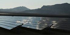 Photo d'illustration : vue du champ de panneaux solaires du projet Desert Stateline près de Nipton, Californie, prise le 16 août 2021.