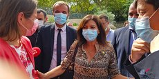 Anne Hidalgo était à Montpellier pour les journées parlementaires du PS les 6,7 et 8 septembre 2021, accueillie par le maire Michaël Delafosse, Valérie Rabault (présidente du groupe socialistes et apparentés à l'Assemblée nationale) et Patrick Kanner (chef du groupe socialistes, écologistes et républicains au Sénat).