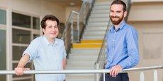 Les trois chercheurs de l'Université de Bourgogne Jérémy Paris (à gauche), Pierre-Emmanuel Doulain (à droite) et Richard Decréau (non présent sur la photo) ont cofondé la startup Synthesis of Nanohybrids (SON).