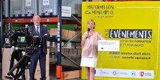 Alain Rousset, le président de la Région Nouvelle-Aquitaine, et Fabienne Buccio, la préfète de région, veulent promouvoir l'offre régionale de formations qualifiantes.