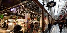Un magasin Marks & Spencer dans le quartier des grands boulevards à Paris.
