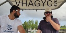 Charles Gaudiard et Anthony Roy, gérant de la société Vhagyc qui porte la plateforme Cobaturage.