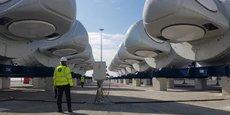 L'assemblage des nacelles par General Electric a débuté sur le site de production de Saint-Nazaire, pour une installation en mer et une mise en service prévues courant 2022.