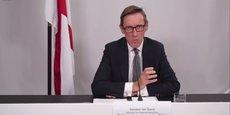Le sénateur Ian Gorst, ministre des Affaires étrangères de l'île de Jersey, répondant à une vingtaine de journalistes anglais et français lors de sa (visio)conférence de presse de ce jeudi 7 octobre 2021.