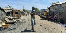 Berary, le quartier des réfugiés climatiques d'Ambovombe, dans la province de Tuléar, sur le littoral sud de Madagascar.