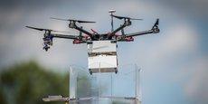 Un drone d'AirMarine lors d'une démonstration avec Cdiscount au cours de l'UAV Day en 2020.