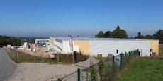 L'extension de l'usine de Scopema sur la zone d'activité des Garennes à Oradour-sur-Vayres (Haute-Vienne).