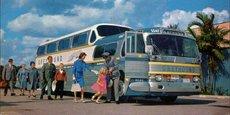 Firstgroup compte en Amérique du Nord 2.400 destinations avec près de 16 millions de passagers par an. (Image d'illustration: carte postale vintage des années 1950-60)