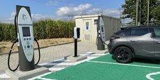 Première installation d'un réseau national baptisé IECharge, qui devrait compter 600 bornes de recharge électrique dans les 24 prochains mois, cette station permet de recharger la batterie d'un véhicule électrique en moins de vingt minutes.
