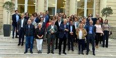 Les candidats de la liste d'union Medef-CPME menée par Patrick Seguin, seule en lice à l'élection des membres de la CCI Bordeaux Gironde du 27 octobre au 9 novembre 2021