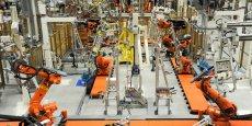L'usine BMW de Liepzig, en Allemagne, où sont assemblés les châssis de la nouvelle BMW i3. Un assemblage totalement robotisé pour un véhicule totalement électrique. / DR