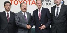 Cérémonie de signature des accords Toyota-BMW
