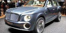 La Bentley Bentayga sera non seulement le premier SUV de la marque, mais également le premier modèle à motorisation diesel.