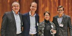 Michèle Boisdron-Celle représentait ODPM lors de sa remise de prix Challenge Digital Health Masterclass, décerné à Londres, en novembre 2013. / DR