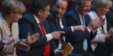 François Hollande et le président de la SPD, Sigmar Gabriel.