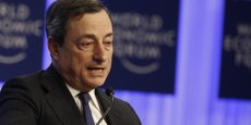 L'amélioration sur les marchés financiers a été spectaculaire en zone euro, assure Mario Draghi. (Reuters/Ruben Sprich)