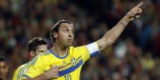 Le footballeur suédois Zlatan Ibrahimovic aurait empoché 1 million d'euros pour un spot de pub pour Volvo. (Reuters/Hugo Correia)