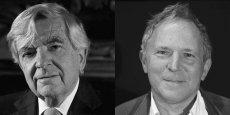 De gauche à droite, le sénateur et ancien ministre Jean-Pierre Chevènement et Bernard Guetta, journaliste./ DR