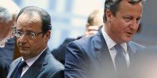 François Hollande et le premier ministre britannique David Cameron. La Grande-Bretagne affiche un taux de chômage très faible, notamment grâce au temps partiel
