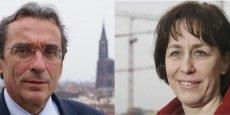 Roland Res (PS) et Fabienne Keller (UMP). / DR