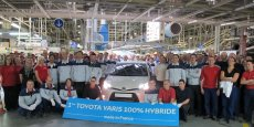 La Toyota Yaris sur le site français de Valenciennes