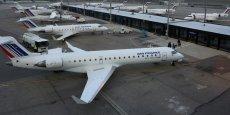 Des avions d'Air France sur le hub de Saint Exupéry