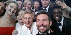 Samsung aurait déboursé des millions pour que le selfie soit pris avec un téléphone de la marque. (Photo : Ellen DeGeneres via Twitter)
