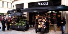 L'enseigne Happy ne ressemble à aucun autre magasin de fleurs avec un concept novateur : la vente de fleurs et de bouquets prêts à être emportés.