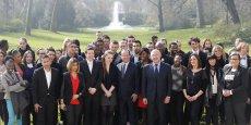 François Hollande a rappelé que l'objectif initial du gouvernement était de faire en sorte qu'il y ait 150.000 emplois d'avenir fin 2014. (DR)