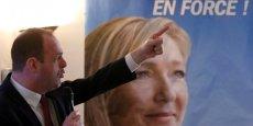 Steeve Briois, tête de liste FN à Hénin-Beaumont arriverait en tête dimanche au premier tour avec 45% des voix. / Reuters