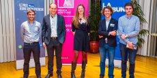 Les lauréats lors de la cérémonie de remise des prix au Conseil régional d'Aquitaine