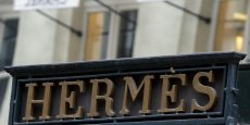 A la clôture de la Bourse, mercredi 23 mars, l'action Hermès grimpait à 317,65 euros.